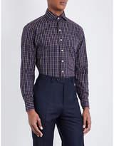 Drakes Regular-fit Checked Cotton-poplin Shirt
