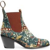 Chloé Bouclé-jacquard Ankle Boots - Blue