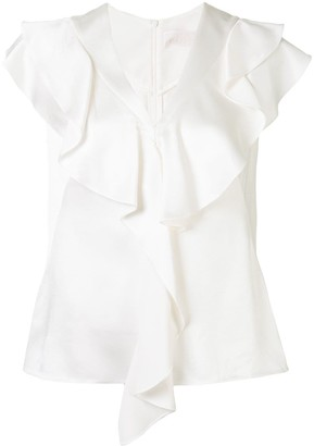 Peter Pilotto Cady frill trim blouse