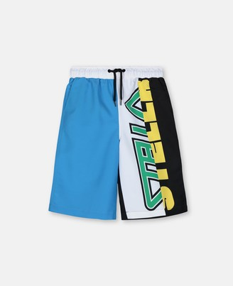 Stella Mccartney Kids Sport Color Block Swim Shorts, Men's