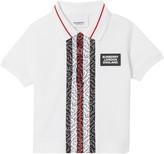 Burberry Joseph Monogram Stripe Pique Polo Shirt