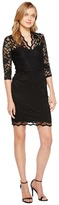 Karen Kane V-Neck Scallop Lace Dress
