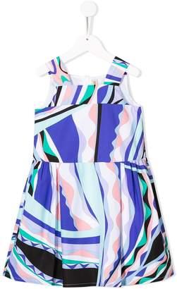 Emilio Pucci Junior sleeveless flared dress