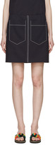 Chloé Navy Double-Pocket Miniskirt