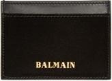Balmain - Porte-cartes en velours noi