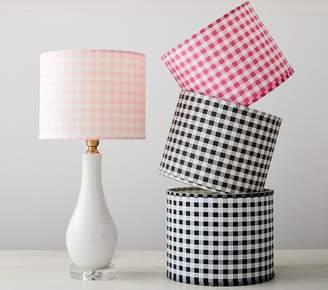 Pottery Barn Kids Gingham Shade - Light Pink