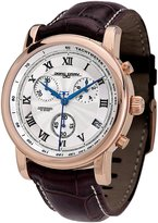 Jorg Gray Men's Swiss Movement Quartz Watch JG7200-12 with Italian Leather Crocodile Pattern Strap