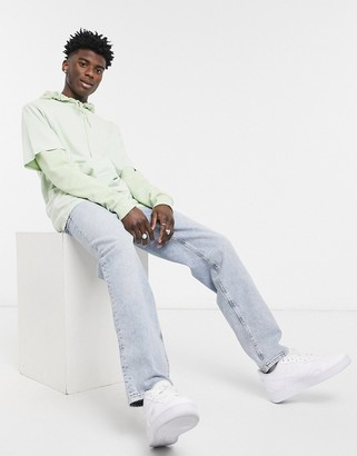 ASOS DESIGN dad jeans in bleach 90s wash