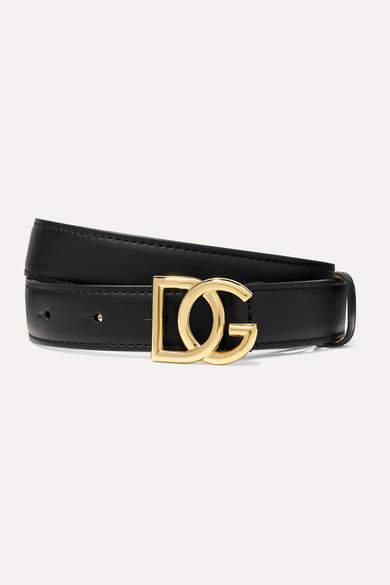 Dolce & Gabbana Leather Waist Belt - Black
