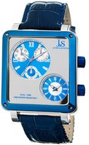 Joshua & Sons Men's JS-30-03 Duel Time Multi Function Watch
