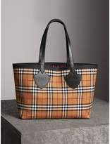 Burberry The Medium Giant Reversible Tote in Vintage Check, Pink