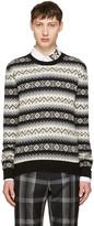 Alexander McQueen Black & Beige Cashmere Sweater