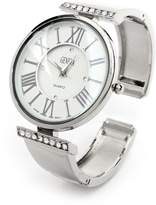 FTW Metal Band Crystal Band Round Face Roman Hours Women's Bangle Cuff Watch