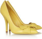Bottega Veneta Bow-embellished leather pumps