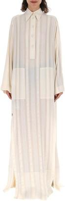 Philosophy di Lorenzo Serafini Pinstripe Maxi Shirt Dress