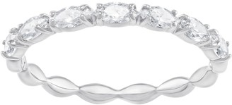 Swarovski Vittore Marquise Ring Size 52 with Brilliant White Crystals on a Rhodium Plated Band Part of the Vittore Collection
