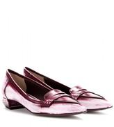 Fendi Andrea leather loafers