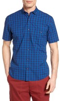 Maker & Company Men's Regular Fit Check Short Sleeve Sport Shirt