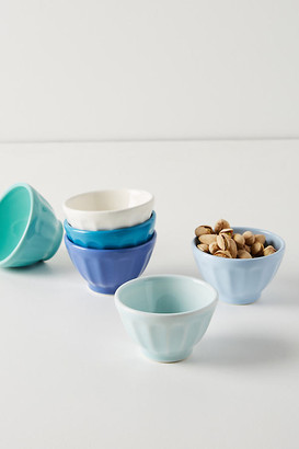 Anthropologie Mini Latte Bowls, Set of 6 By in Blue Size SET OF 6