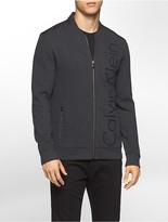 Calvin Klein Mixed Media Fleece Bomber Sweatshirt