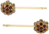 Erdem - Barrette dorée Crystal