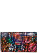 Lodis Elche Printed Leather Clutch