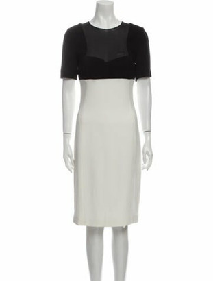 Narciso Rodriguez Crew Neck Knee-Length Dress Black