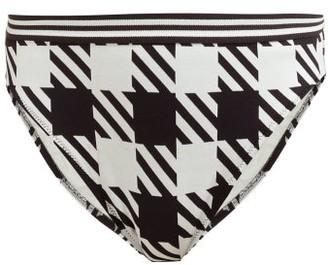 Solid & Striped The Christie Gingham Bikini Briefs - Womens - Black White