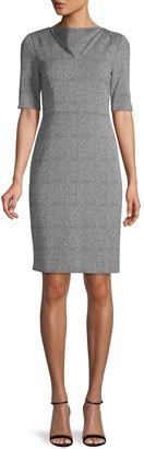 Donna Karan Printed Sheath Dress