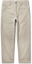 Acne Studios Allan Cotton-blend Twill Trousers - Beige