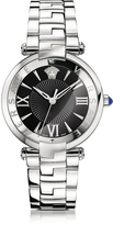 Versace Revive 3H Stainless Steel Women's Watch w/Black Dial