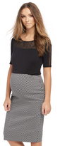 Motherhood Pull On Style Pencil Fit Maternity Skirt