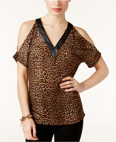 MICHAEL Michael Kors Animal-Print Cold-Shoulder Top, A Macy's Exclusive