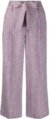 Liu Jo Check High-Waisted Wide Trousers