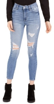 Celebrity Pink Juniors' Ripped High-Rise Skinny Ankle Jeans