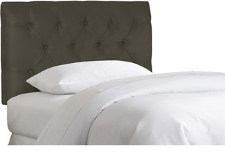 Skyline Furniture Twin Tufted Velvet Headboard, Pewter