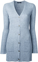 Roberto Collina ribbed fitted cardigan - women - Linen/Flax/Nylon/Viscose - M