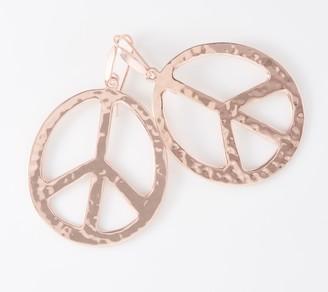 Robert Lee Morris Rlm Jewelry By RLM Bronze Peace Sign Earrings