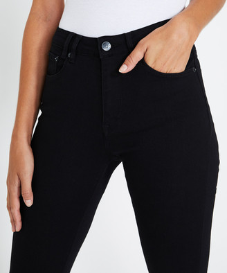 Insight Molly Mid Rise Skinny Jeans Jet Black