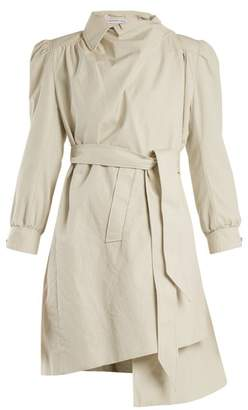 Balenciaga Pulled Puff Sleeve Coat - Womens - Ivory