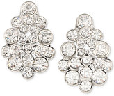 Carolee Silver-Tone Crystal Cluster Stud Earrings