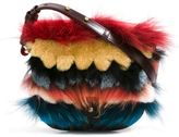 Paula Cademartori 'Beth' shoulder bag - women - Calf Leather/Rabbit Fur/Racoon Fur - One Size