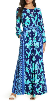 Lilly Pulitzer Micole Floral Long Sleeve Maxi Dress