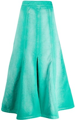 Kenzo Faded Pleated Midi Skirt