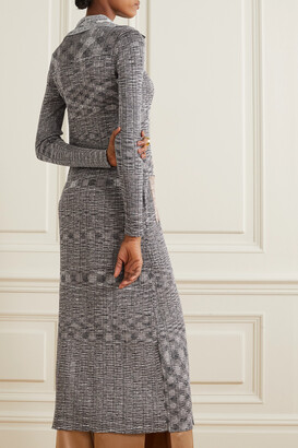 Missoni Space-dyed Crochet-knit Cardigan - Gray