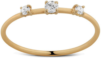 Lana 14k Solo Three-Diamond Wire Ring
