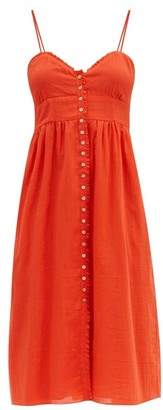 Loup Charmant Avalon Ruffled Cotton-voile Dress - Red