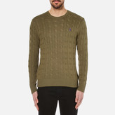 Polo Ralph Lauren Crew Neck Cable Knitted Jumper New Olive