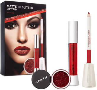 Cailyn Cosmetics Power Red Matte To Glitter