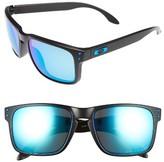 Oakley Women's Holbrook 56Mm Polarized Sunglasses - Black/ Sapphire Iridium P